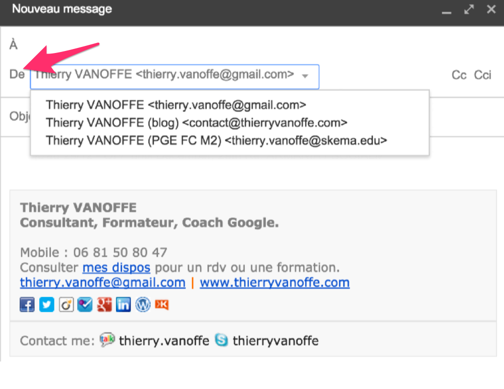 comment je rajoute le logo de mon entreprise en signature de mail le blog de thierry vanoffe. Black Bedroom Furniture Sets. Home Design Ideas