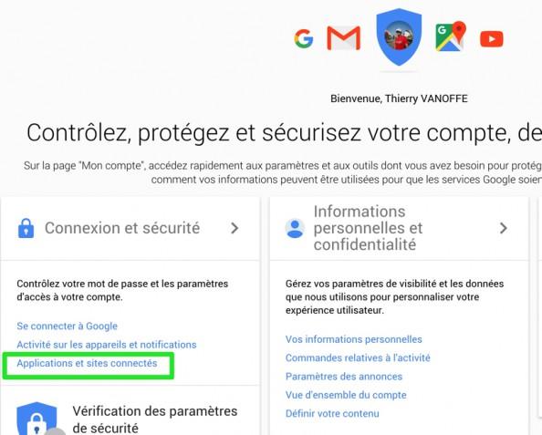 Sécurité : supprimer une application ou extension