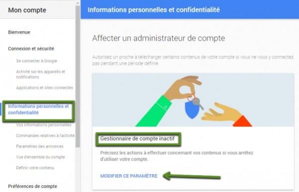Léguez votre compte Google
