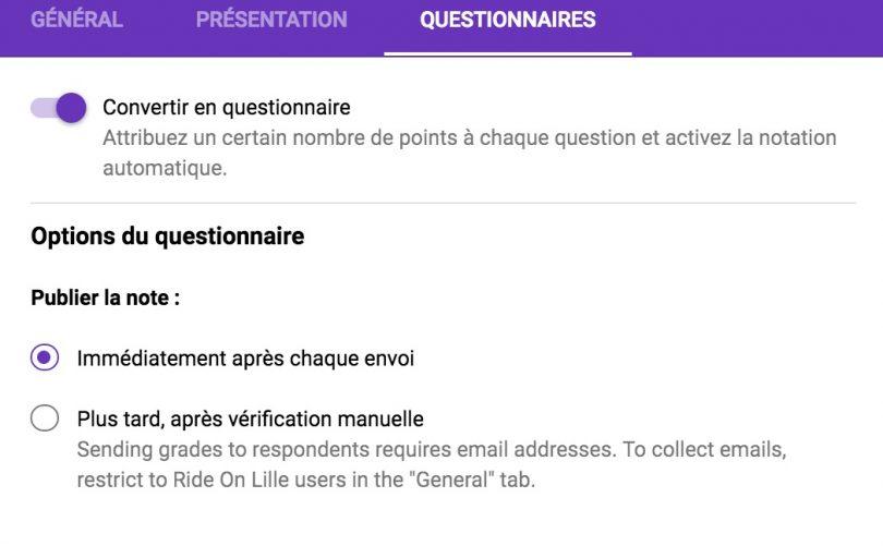 google forms offre des questionnaires autocorrig u00e9s