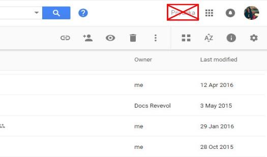 Suppression du nom de votre compte dans la barre Google