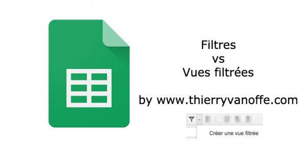 Google tableur : les vues filtrées