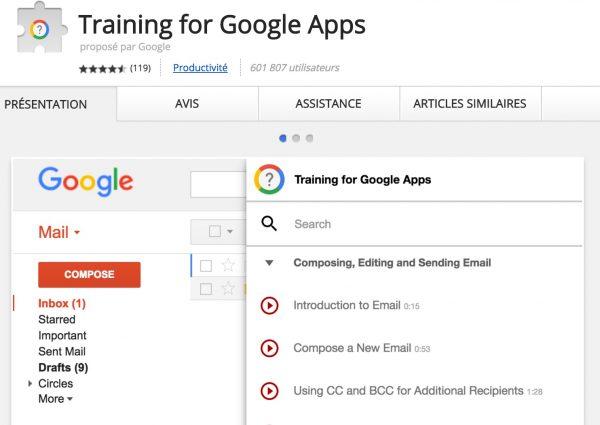Training pour Google Apps.