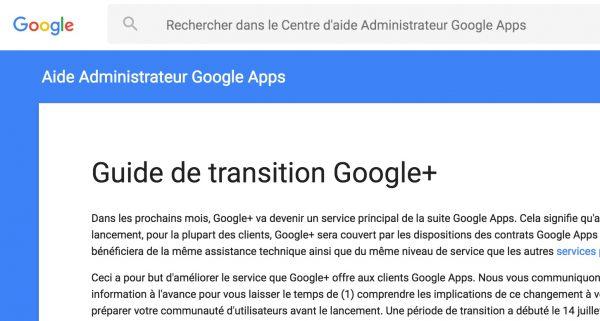 Guide de transition Google+