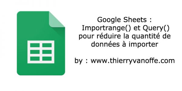 GSheets : Importrange & Query