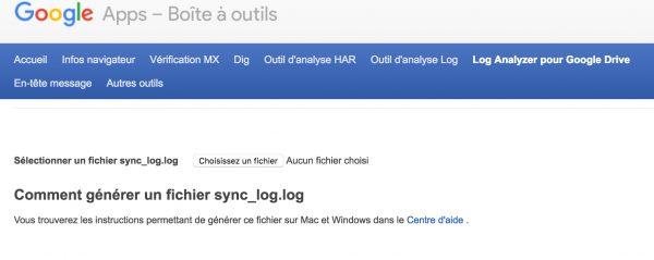 Un nouvel analyseur de log pour Google Drive Mac / PC
