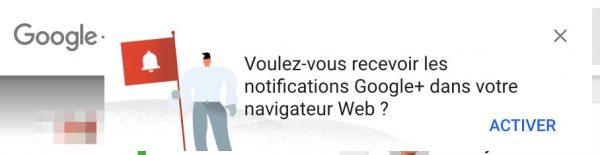 Notifications G+ dans Chrome