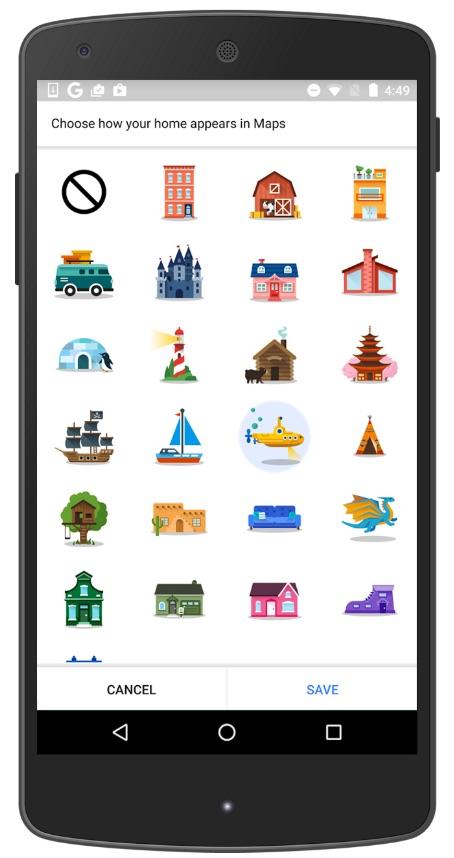 logo google maps domicile et travail