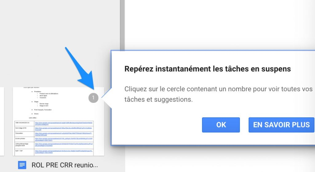 commentaire attribuer google drive