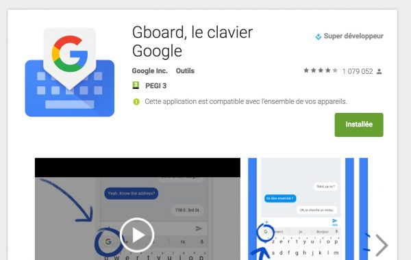 Gboard : le clavier Google pour Android & iOS