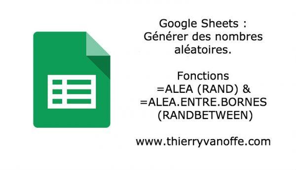 Google Sheets : générer des nombres aléatoires