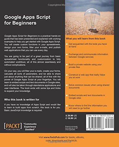 Livre google apps script couverture