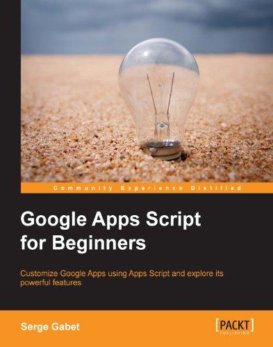 Livre : Google Apps Script for Beginners