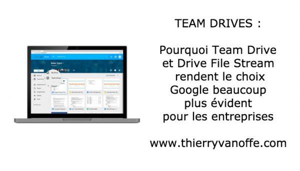 Pourquoi Team Drive et Drive File Stream rendent le choix Google beaucoup plus évident pour les entreprises
