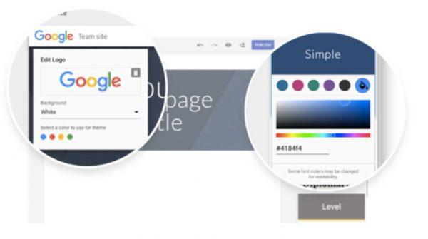 Google Site : personnaliser votre site avec les couleurs du logo