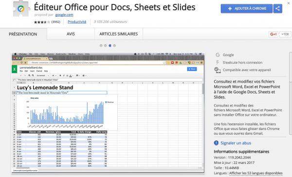 Travailler sur MS Office sans Office dans son Drive.
