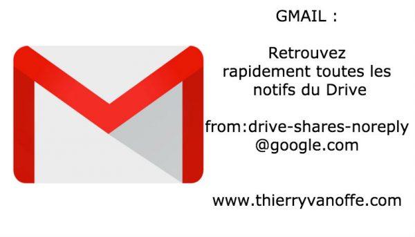 Gmail : retrouvez rapidement toutes les notifs du Drive