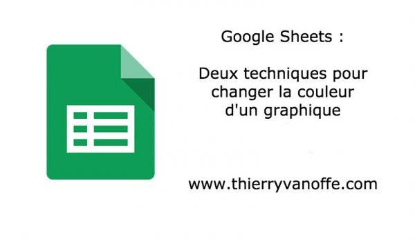 Gsheets : changer la couleur d'un graphique