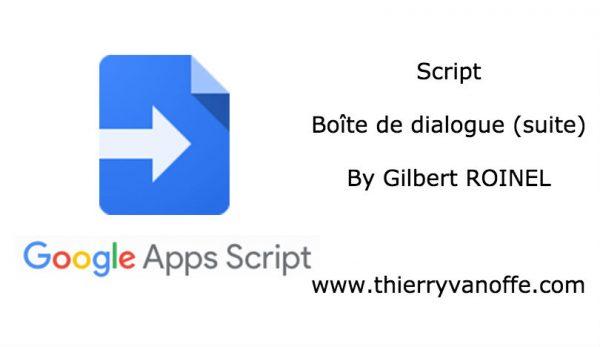 Script : boîte de dialogue (Episode 2)