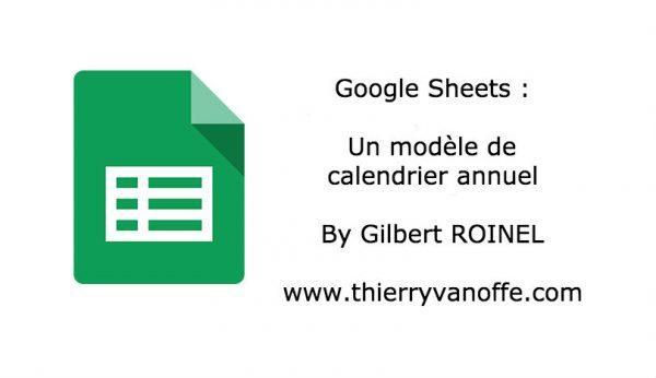 Google Sheets : un modèle de calendrier annuel