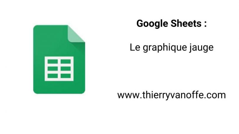 google sheet   le graphique jauge