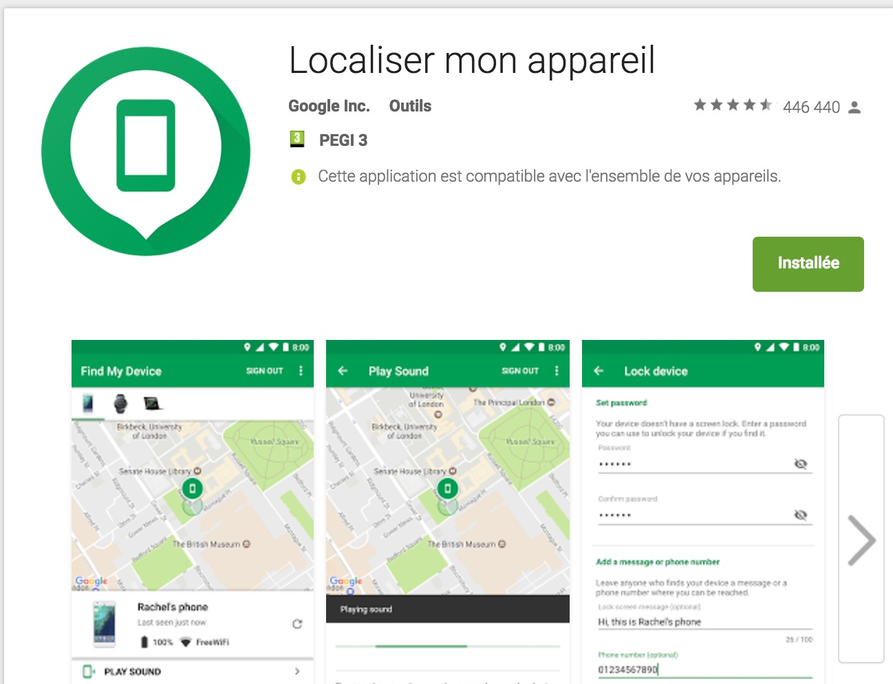 localiser mon telephone perdu android