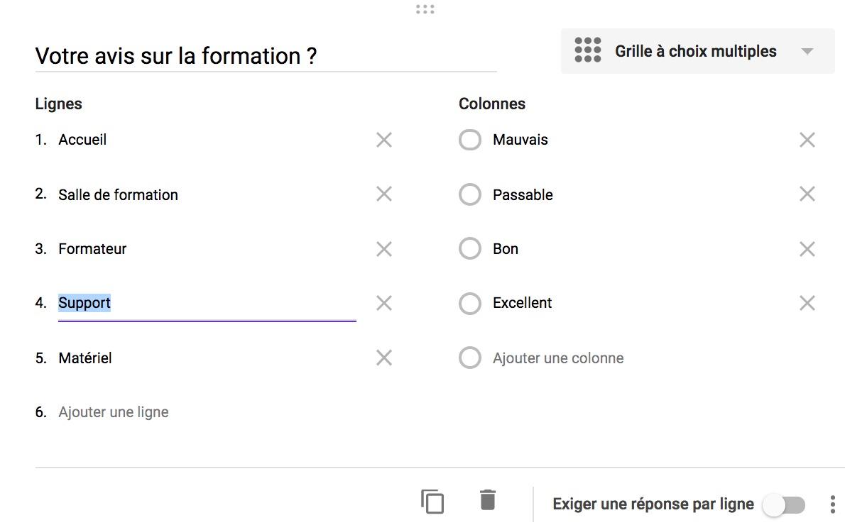 Google Forms : Grilles à choix multiples et grilles de ...