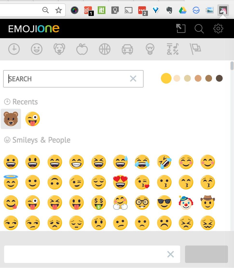 Extension Chrome Emoji Numeriblog
