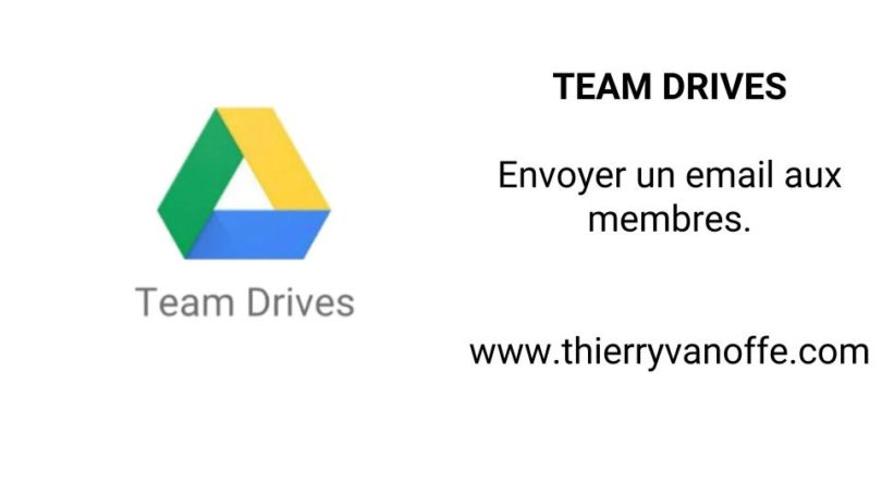team drive envoyer un email aux membres le blog de thierry vanoffe coach g suite. Black Bedroom Furniture Sets. Home Design Ideas