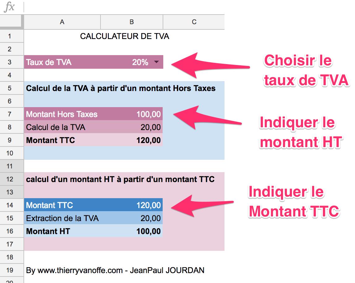 Gsheet Le Calculateur De Tva Thierry Vanoffe