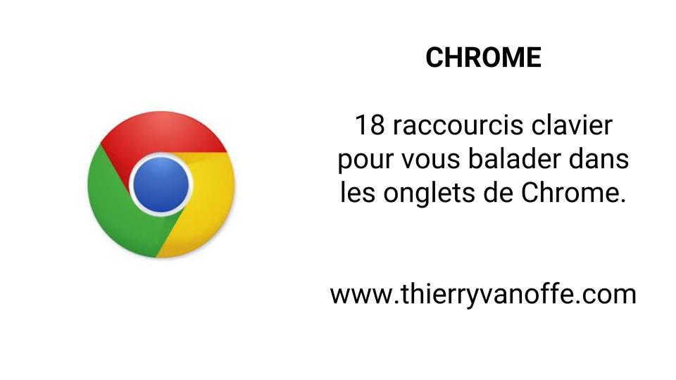 Chrome 18 Raccourcis Clavier Utiles Pour Les Onglets Thierry Vanoffe