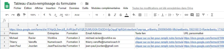 Google Forms Et Sheets Pre Remplir Un Formulaire Google A Partir Des Donnees D Un Tableau Sheets Numeriblog