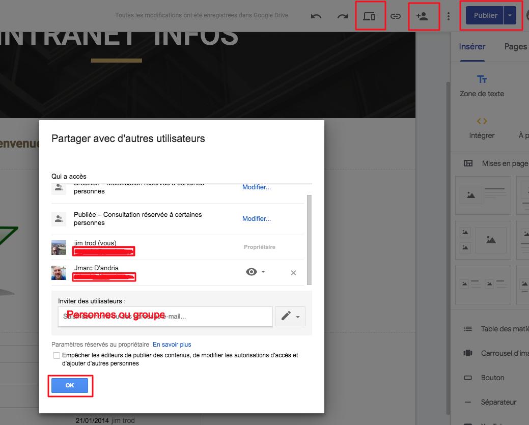 Google drive droit et partage de fichiers dans le cloud