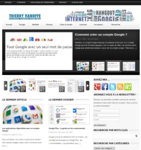 Capture d'écran du site en 2014