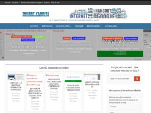 Capture d'écran du site en 2016