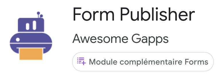 Module Complémentaire Form Publisher