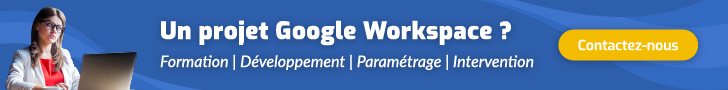 Formation professionnelle et services Google Workspace
