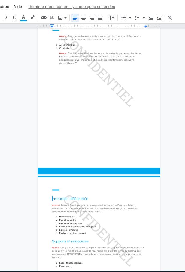 Google Docs ajouter un filigrane à vos documents confidentiels